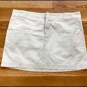 American Eagle khaki mini skirt size 6